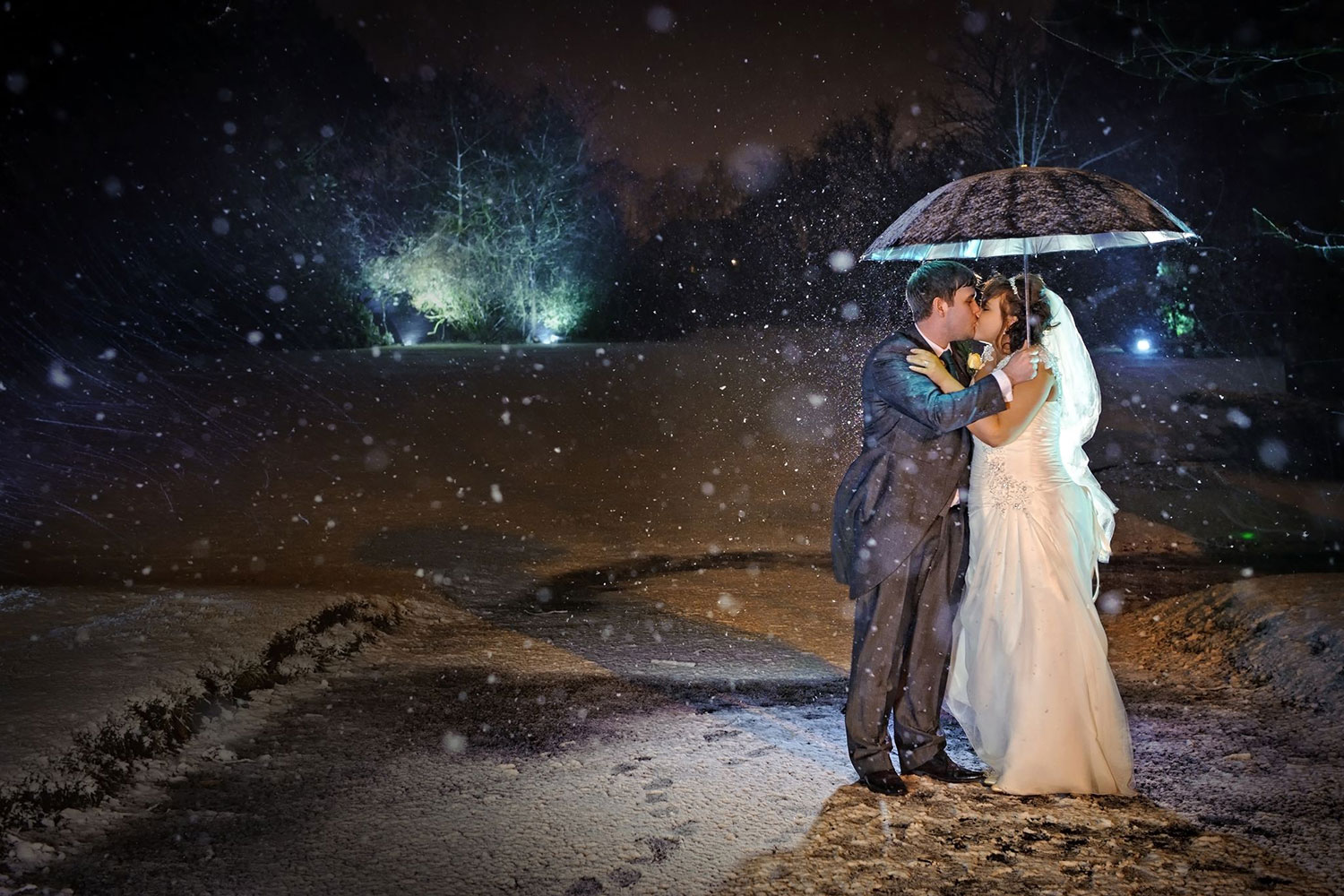 snow wedding photography